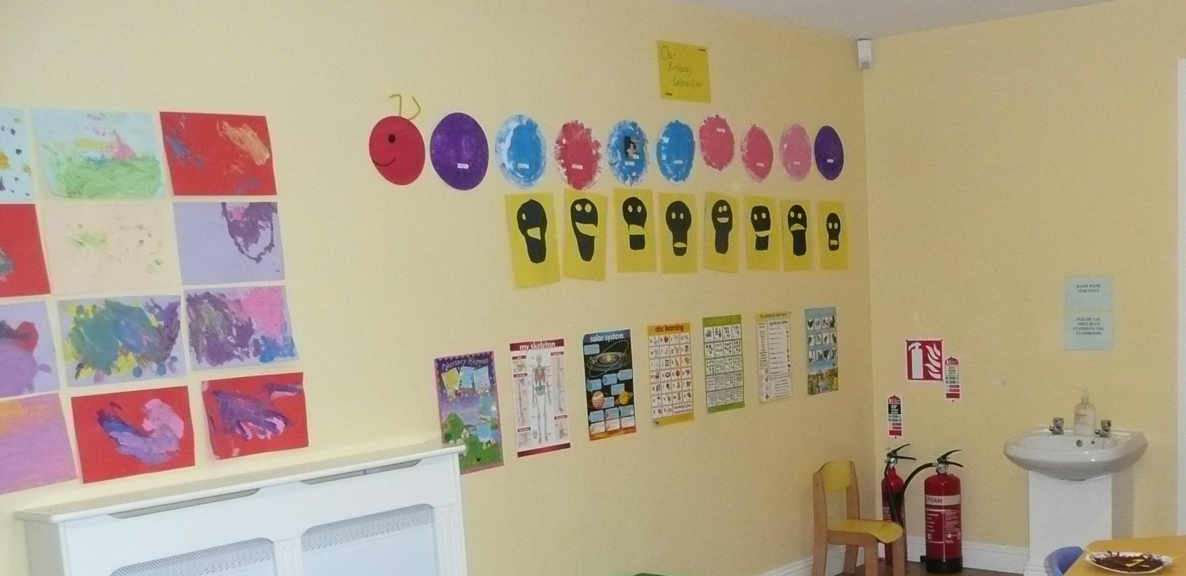 Montessori Classroom Wall Design ~ Absorbent minds pre montessori